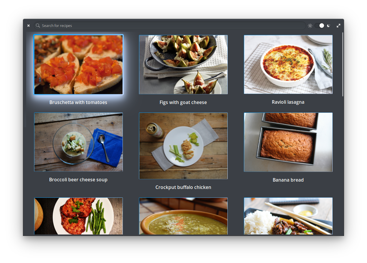 Get Recipes on elementary AppCenter